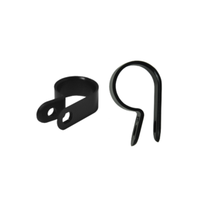 Black Nylon Cable Clamps.