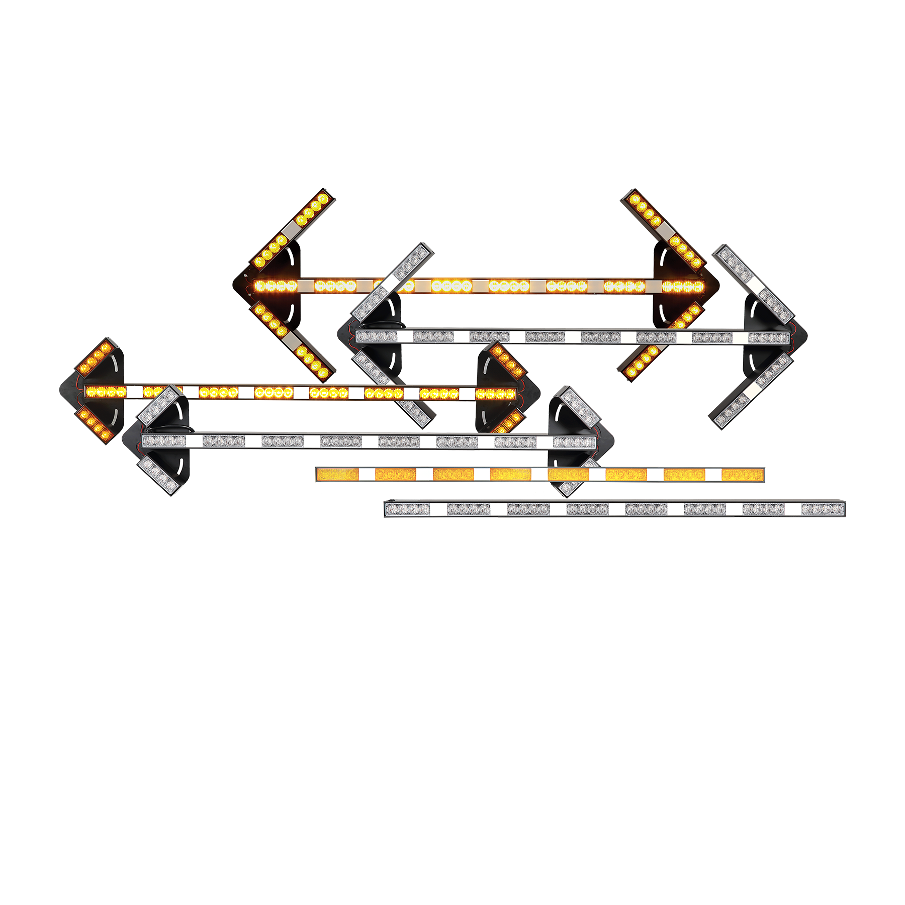 LED Warning Light Sets with Arrows