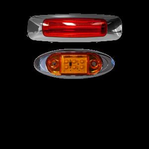 LED Sealed Lamps w/ Decorative Chrome Bezels